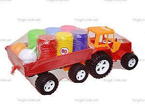 Трактор с прицепом и бочонками, 0075, купить