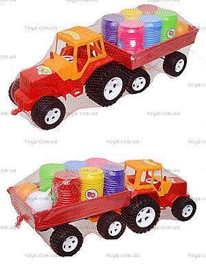 Трактор с прицепом и бочонками, 0075