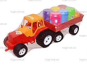 Трактор с прицепом и бочонками, 0075, фото