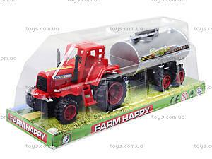 Игрушечный трактор с бочкой, 015, отзывы