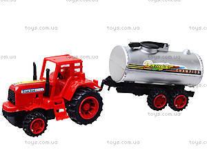 Игрушечный трактор с бочкой, 015, игрушки