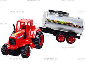 Игрушечный трактор с бочкой, 015, детские игрушки
