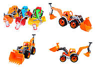 Трактор с двумя ковшами «Технок», 3671, фото
