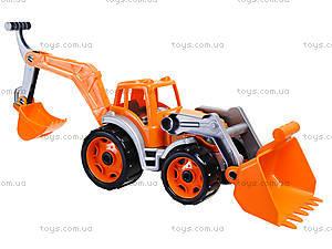 Трактор с двумя ковшами «Технок», 3671, детские игрушки