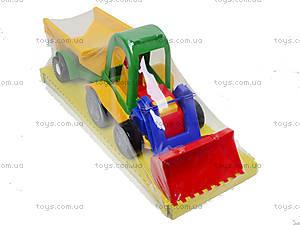 Трактор с ковшом и прицепом, 39229