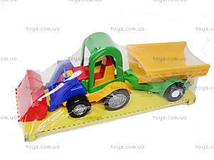 Трактор с ковшом и прицепом, 39229, фото