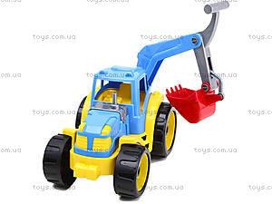 Детский трактор с ковшом «Силач», 3435, фото