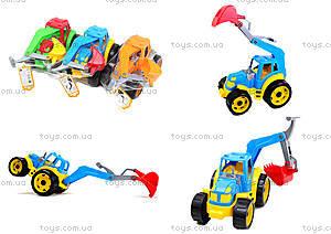 Детский трактор с ковшом «Силач», 3435, отзывы