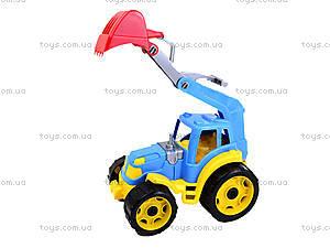 Детский трактор с ковшом «Силач», 3435, игрушки