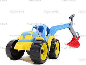 Детский трактор с ковшом «Силач», 3435, детские игрушки