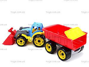 Детская игрушка «Трактор с ковшом и прицепом», 3688, купить