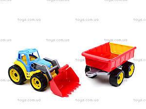 Детская игрушка «Трактор с ковшом и прицепом», 3688, фото