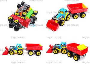 Детская игрушка «Трактор с ковшом и прицепом», 3688, отзывы