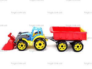 Детская игрушка «Трактор с ковшом и прицепом», 3688, игрушки