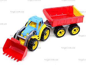 Детская игрушка «Трактор с ковшом и прицепом», 3688, детские игрушки