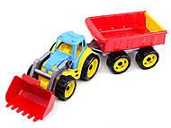 Детская игрушка «Трактор с ковшом и прицепом» в ассортименте, 3688, купить