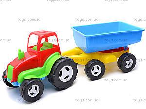 Трактор с прицепом для детей, 07-709, фото