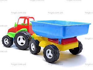 Трактор с прицепом для детей, 07-709, игрушки