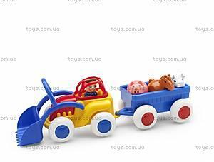 Трактор с прицепом и животными, 1234