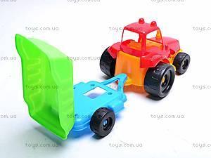 Трактор с прицепом, маленький, 07-711, купить
