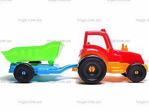 Трактор с прицепом, маленький, 07-711, фото