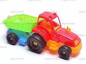 Трактор с прицепом, маленький, 07-711, цена