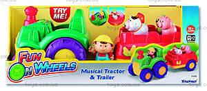 Трактор с прицепом, музыкальный, K31222