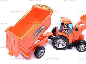 Трактор с прицепом Truck, FD602A, детские игрушки
