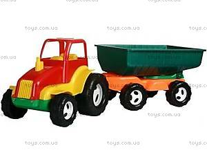 Яркий трактор с прицепом, 5013
