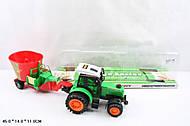 Трактор с прицепом для веселых игр, 666-106C, фото