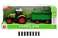 Трактор с прицепом «FARMLAND» музыкальный, WY900G, отзывы