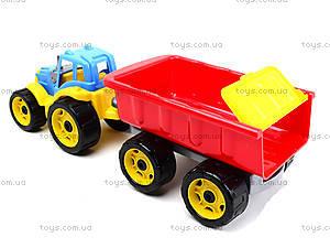 Детский игрушечный трактор с прицепом для детей, 3442, купить