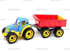 Детский игрушечный трактор с прицепом для детей, 3442, отзывы