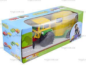 Детский игрушечный трактор с прицепом, 39009, фото