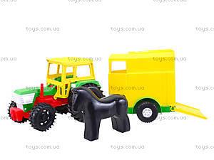 Детский игрушечный трактор с прицепом, 39009, отзывы