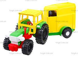 Детский игрушечный трактор с прицепом, 39009, цена