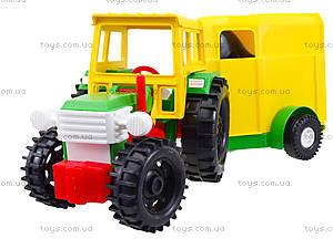 Детский игрушечный трактор с прицепом, 39009, игрушки