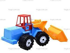 Игрушечный трактор «Шустрик-скрапер», 1061, toys.com.ua