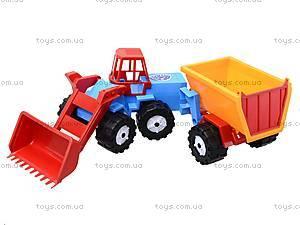 Трактор «Шустрик-скрапер», 1062, детские игрушки