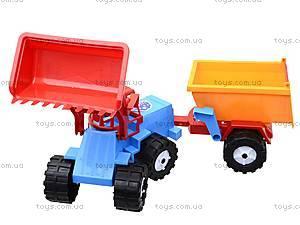 Трактор «Шустрик-скрапер», 1062, магазин игрушек