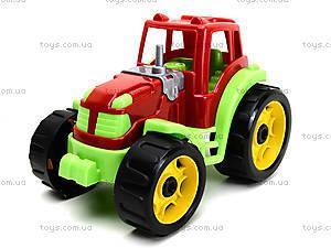 Детский трактор «Строитель», 3800, детские игрушки