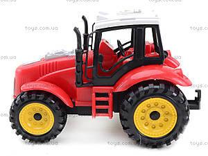 Трактор игрушечный инерционный, ABC-A, фото