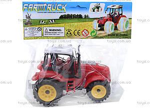 Трактор игрушечный инерционный, ABC-A, игрушки