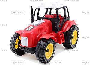 Трактор игрушечный инерционный, ABC-A, детские игрушки