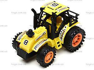 Инерционная игрушка для детей «Трактор», 925-6, игрушки