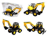 Трактор игрушечный с ковшом, 033, фото