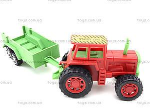 Игрушечный трактор с прицепом и животными, 855A-58B, купить