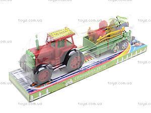 Игрушечный трактор с прицепом и животными, 855A-58B, фото