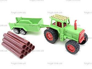Инерционный трактор с грузовым прицепом, 855A-57B, фото