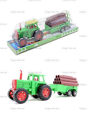 Инерционный трактор с грузовым прицепом, 855A-57B